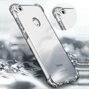 360 ° a Prueba de Choques TPU Blando Silicona Transparente Estuche Cubierta Para Huawei P10 PLUS/LITE/SM
