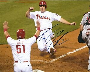Signed 8x10 TOMMY JOSEPH Philadelphia Phillies Autographed photo - COA