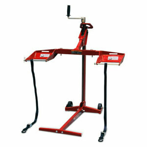 MoJack Flat Folding 450 lb Capacity Riding Lawn Tractor Mower Lift Jack, EZMAX