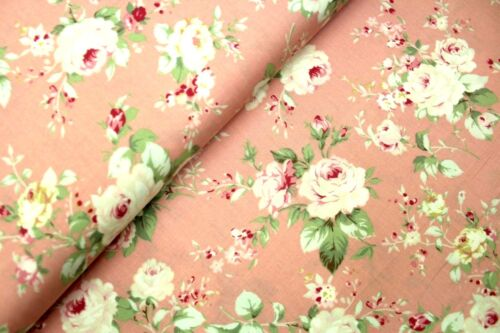 "100/% Cotton 3 Colours Traditional Roses 44/"" High Quality Premium Poplin"