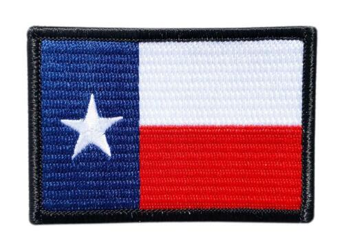 Texas TX State Flag Patch 3.0 X 2.0 inch -Iron on Sew on - TF7