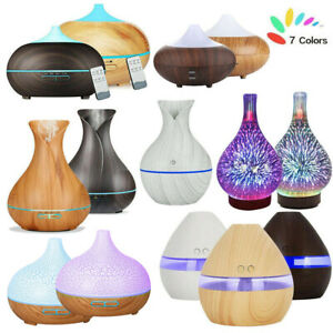 Electric Air Diffuser Aroma Oil Humidifier LED Night Light Relax Defuser Remote