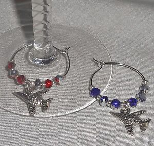 Jet-Airplane-Charm-Crystals-Beverage-Napkin-Ring-Wine-Glass-Charms