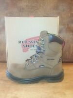 Men's Red Wing 8 Inch Safety Toe Brown Leather Lace Up Work Boot Style 2280