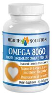 Omega 8060.highly Concentrated Omega-3 Fish Oil (1 Bottle, 60 Sofgels)