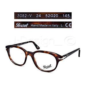 9690e4d04a2b3 Persol 3052-V 24 Dark Tortoise 52 20 145 Eyeglasses Rx - Made in ...