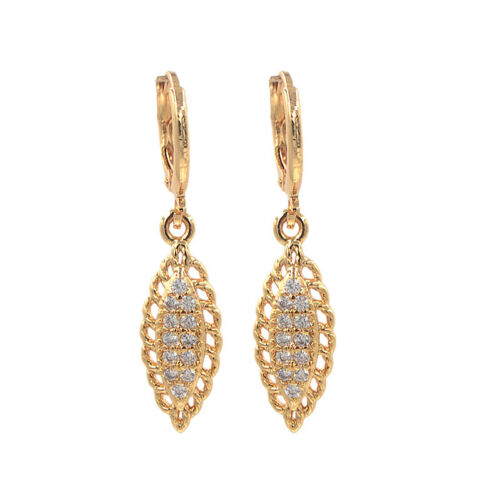 Fashion Women Zirconia CZ Football Olive Dangle Wedding Earrings Jewelry