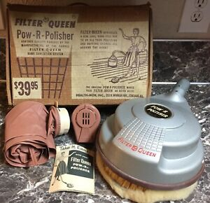 Filter-Queen-Vacuum-POW-R-POLISHER-Model-70-Attachments-Hair-Dryer-Vintage