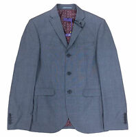 MENS SUIT JACKET BLAZER NEXT SLIM FIT GREY CHECK 36 38 40 42 44 SHORT REG NEW