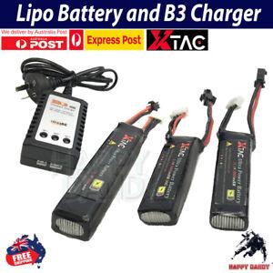 7.4v 3 Pins Lipo Battery USB Charger J8 J9 J10 ACR M4A1 LDT HK416 Gel Blaster AU