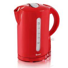 SWAN 1.7 Litro Rosso Bollitore Caraffa Cordless Elettrico Acqua Bollire Tè CAFFè CUCINA