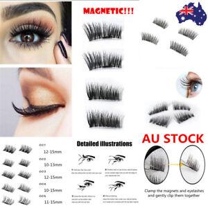 012ba569f96 Image is loading Magnetic-Eyelashes-3D-Handmade-Mink-Reusable-False-Magnet-