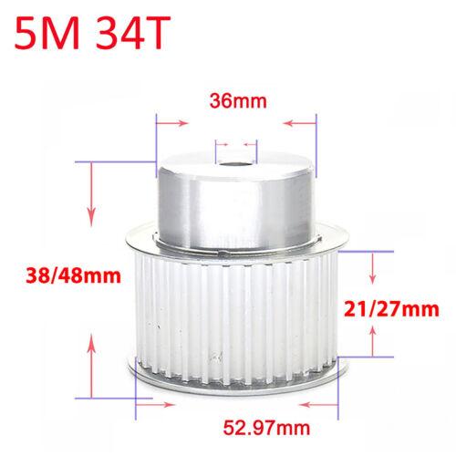 HTD 5M Zahnrad Pulley Riemenscheibe BF-typ 3D Drucker Zahnriemenrad 21mm Breit