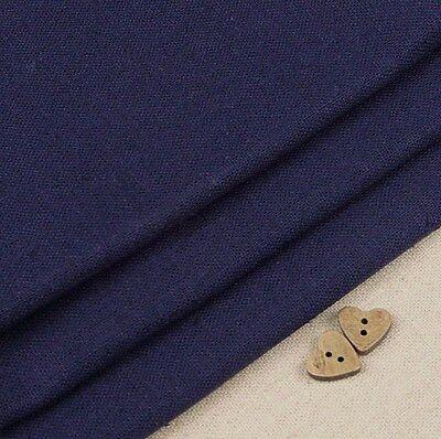 Robert Kaufman Essex Navy Blue Linen Blend Fabric / bag dressmaking dark deep