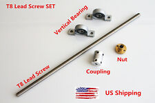 T8 Lead Screw Set Pitch 2 Lead 28 Stainless Rod W Nut Amp Shaft Coupler Amp Bearing