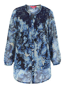 Denim 24//7 ladies tunic blouse top plus size 18-34 dusky green lace