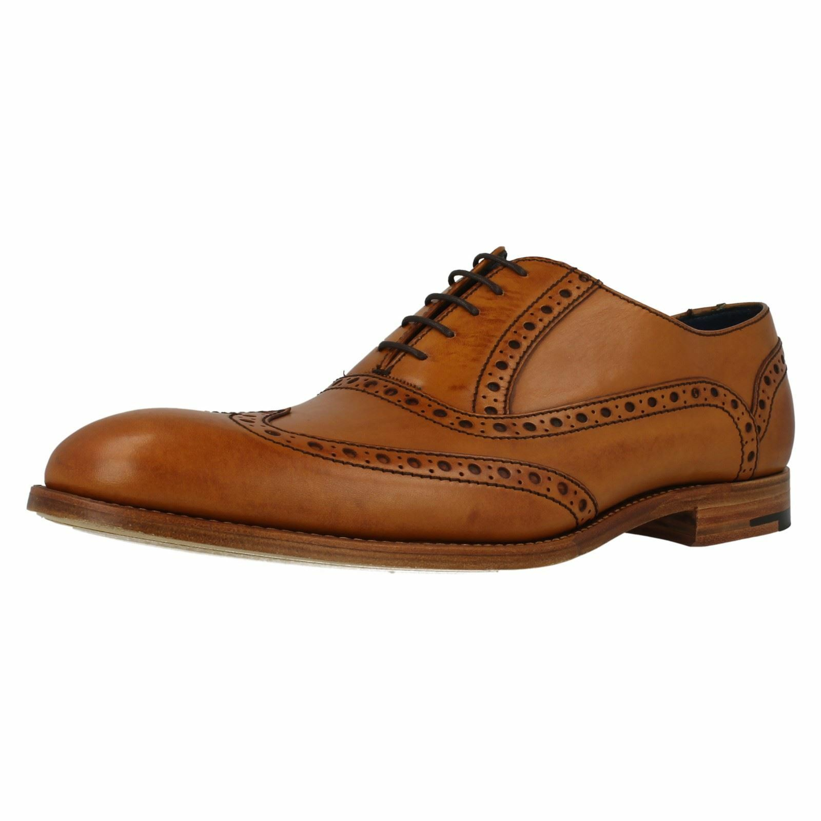 Barker 'Grant' Cedar Calf Leather Lace Up Brogue Shoes