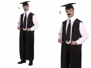 Lehrer-Abendkleid-Herren-Damen-Lehrer-Maskenkostuem-Mantel-Mantel-Umhang