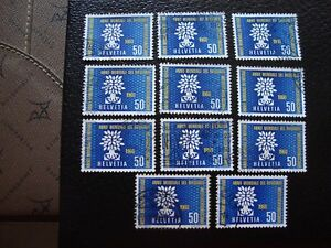 Switzerland-Stamp-Yvert-and-Tellier-N-641-x10-Obl-A4-Stamp-Switzerland