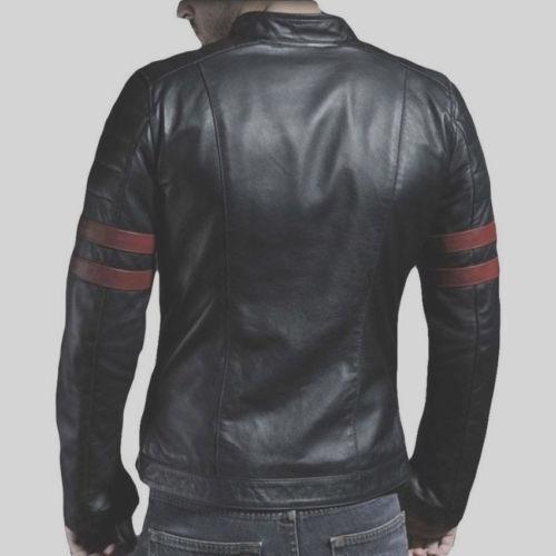 Slim alta Fit vera qualità pelle uomini Giacca motociclista di nera Nuovi stile di genuina pecora OfSx0Wwq