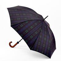 Fulton Huntsman Mens Classic Stick Umbrella with Wood Handle