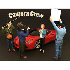 CAMERA CREW 4PC FIGURE SET FOR 1:24 AMERICAN DIORAMA 77477,77478,77479,77480
