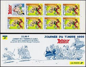 1999-FRANCE-Carnet-BC3227-JOURNEE-du-TIMBRE-ASTERIX-Stamp-day-Booklet-MNH
