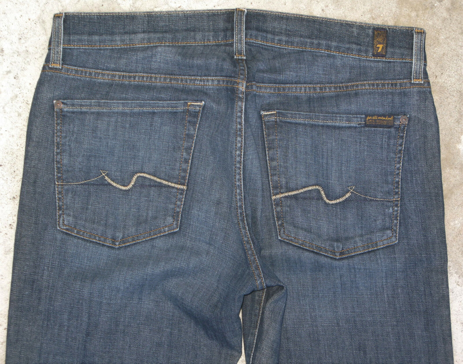 7 For all Mankind Standard Jean Men Sz 34 X 33 Straight Leg w Stretch Distressed