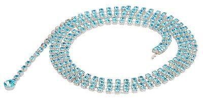 2019 Nuovo Stile Diamante Diamante Delle Donne Cintura Catena Cristallo Rhinestone Ciondolo Gemma Blu Cintura-mostra Il Titolo Originale