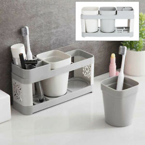 Electric-Toothbrush-Holder-Stand-Set-Shelf-Bathroom-Toothpaste-Storage-Rack-Pro
