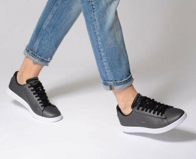 dc3de9581e8ae Womens Lacoste Shoes Carnaby EVO 118 7 SPW Dark Grey Black SNEAKERS ...