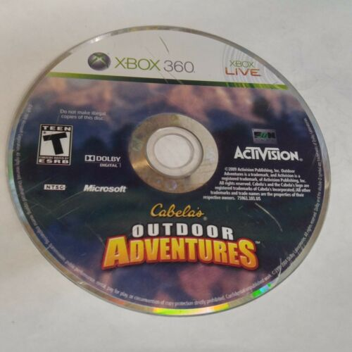 1 of 1 - Cabela's Outdoor Adventures (Microsoft Xbox 360, 2009) DISC ONLY #933