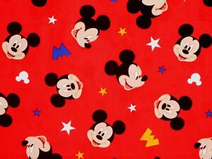 DISNEY-MICKEY-MOUSE-HEAD-TOSS-SPRINGS-CREATIVE-100-COTTON-FABRIC-BY-THE-YARD