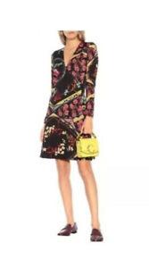 ETRO-1-405-Floral-Printed-Wool-Midi-Dress-NWT-Size-44