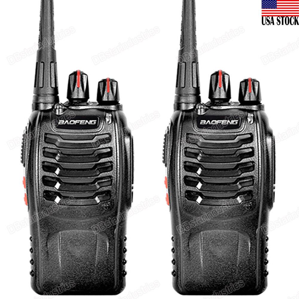 db-star 2 X BAOFENG BF-888S UHF 400-470 MHz 5W CTCSS Two-way Walkie-Talkie Radio