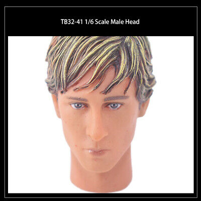 """1:6 Scale HP0045 Male Head Sculpt Toy for 12/"""" Phicen Male Body Action Figure"""