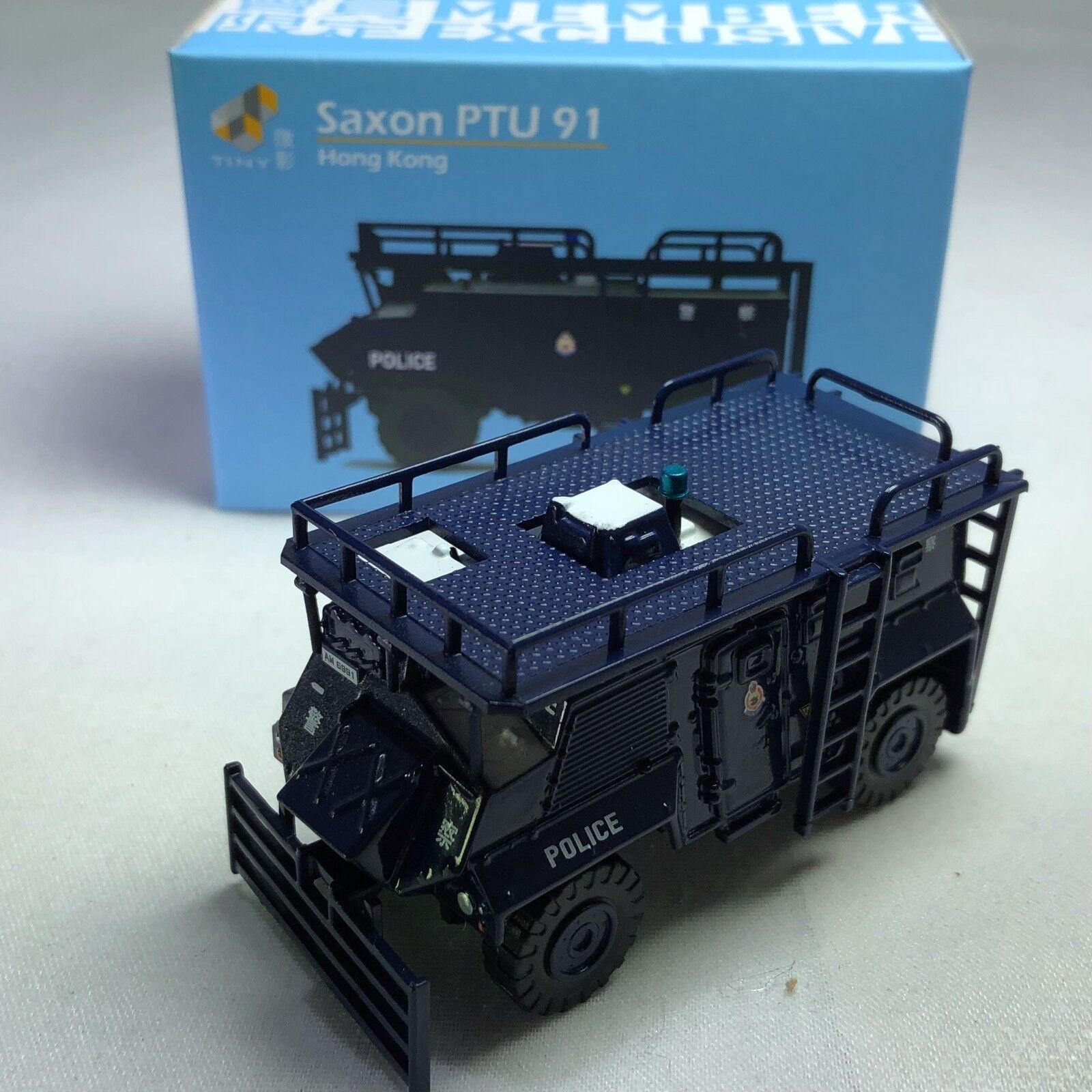 1 72 pequeños Coche-Die-cast Modelo de Coche-Saxon PTU 91 exclusivo de miembros de Hong Kong