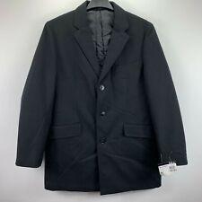 Bar Iii Mens Slim Fit Overcoat Black 42s