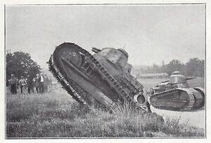 Grandes Manoeuvres Dans La Vallee Du Rhone Chars D 'assaut Wwi Militaria 1923 Prix RéDuctions