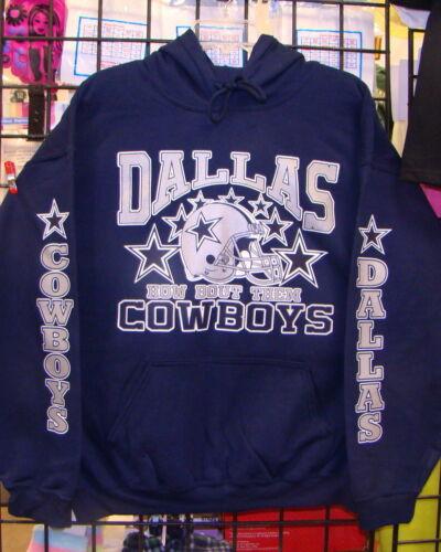 2XL Navy BLUE  Sweatshirt//HOODIE S 4XL XL L DALLAS COWBOYS 3XL 5XL M