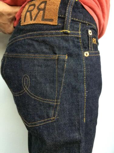 RRL double rl  Men/'s NEW STRAIGHT LEG ONCE WASH jeans denim blue sz 32//32 34//32