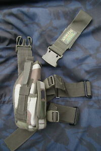 ARKTIS-RIGHT-Leg-Military-Pistol-Holster-Woodland-French-CCE-Pattern