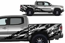 Vinyl Graphics Decal TACOMA SHRED Wrap 2D Toyota Tacoma LONG BED 2005-15 SILVER
