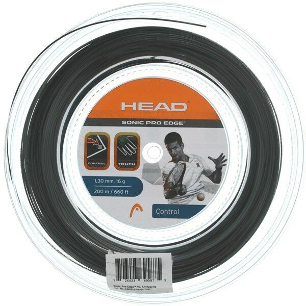 HEAD SONIC PRO EDGE 1,25mm o 1,30mm matassa 200m nero/antracite