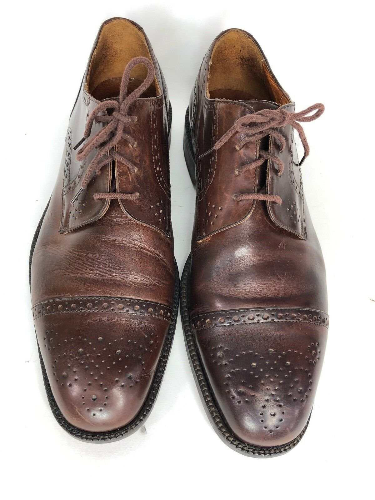 Johnston & Murphy Brown Cellini Oxford Cap Toe Mens Size 9 shoes  Made B9