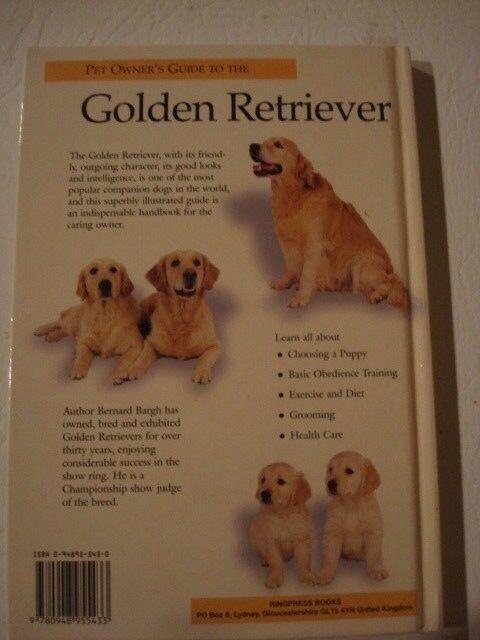 GOLDEN RETRIEVER PET OWNER'S GUIDE (by Bernard Bargh). Free post. A+ condition
