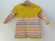 20cea25d1d54 Genuine Kids Oshkosh Girls Yellow Antique Coin Stripe Sweater Dress ...