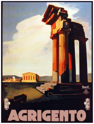 9806.Agrigento.Ruins of italian building.POSTER.decor Home Office art