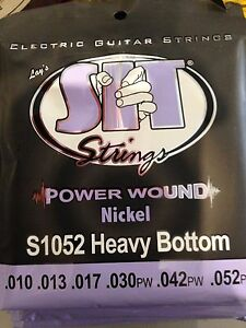 SIT Power Wound Nickel Electric Guitar Strings 10-52 S1052 Heavy Bottom