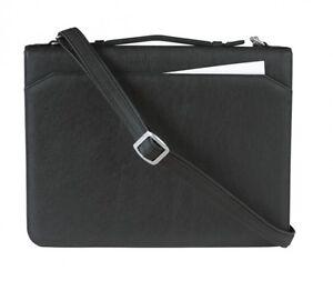 Vertretermappe-Ringbuchmappe-A4-Corello-Kunstleder-schwarz-von-FIHA-Promotion